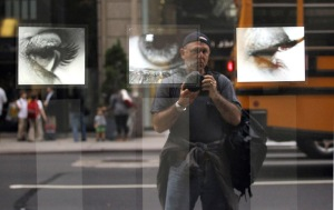 Self-portrait on Madison ave.  Exclusive Photos by Lawrence Schwartzwald